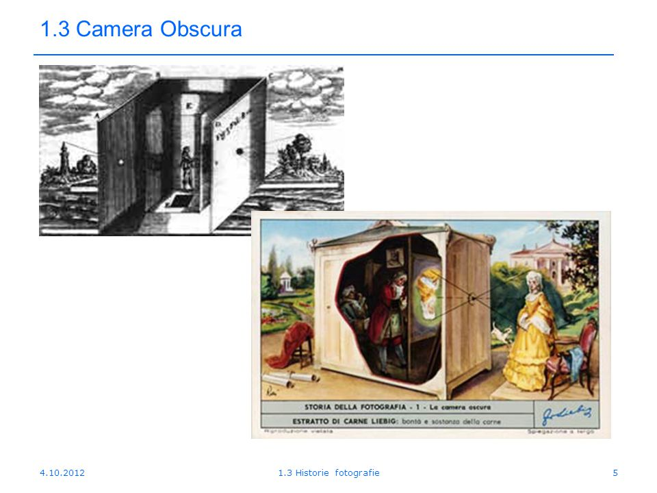 4.10.20121.3 Historie fotografie36 1.3 Historie 1948Firma Polaroid uvádí na trh fotoaparáty využívající princip instantní fotografie založené na výzkumech amerického vědce Erwina Landa.