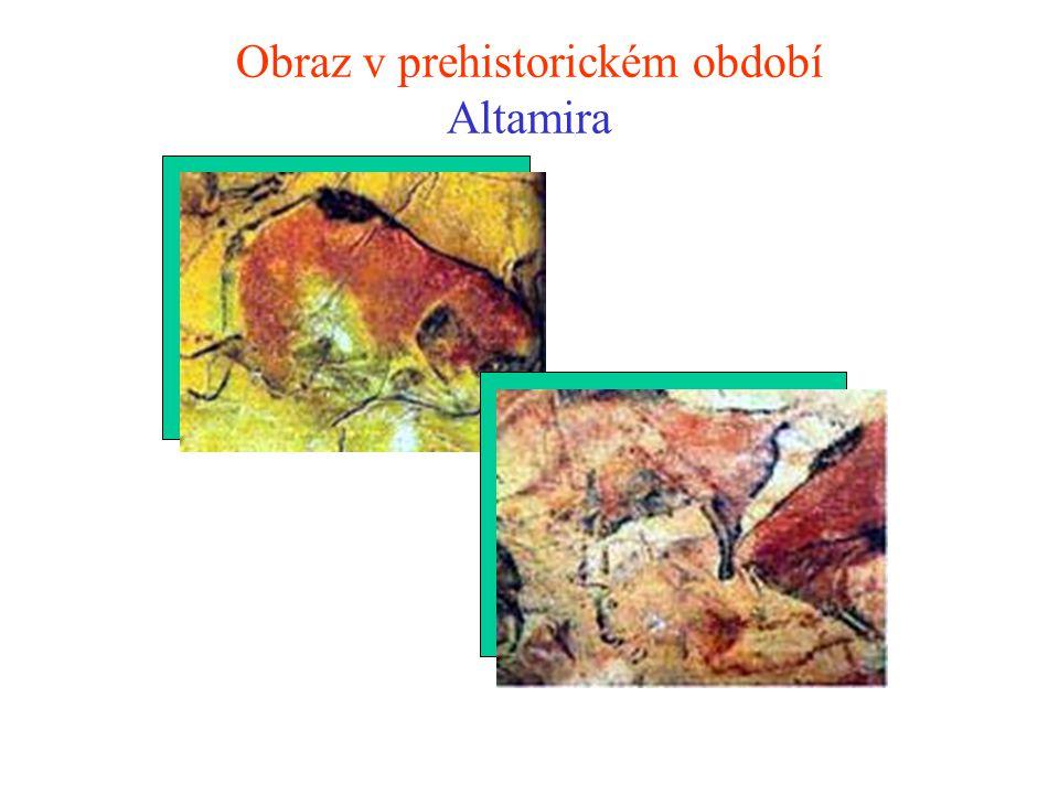 Obraz v prehistorickém období Lescaux