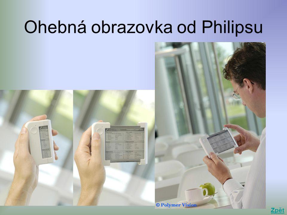 Ohebná obrazovka od Philipsu Zpět