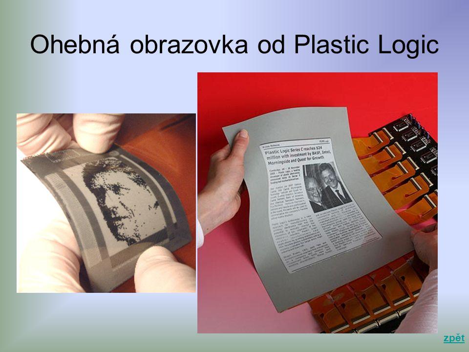 Ohebná obrazovka od Plastic Logic zpět