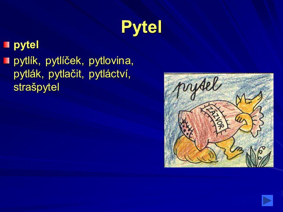 Pytel pytel pytlík, pytlíček, pytlovina, pytlák, pytlačit, pytláctví, strašpytel