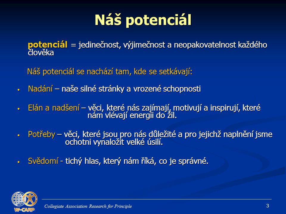 3 Náš potenciál potenciál = jedinečnost, výjimečnost a neopakovatelnost každého člověka potenciál = jedinečnost, výjimečnost a neopakovatelnost každéh
