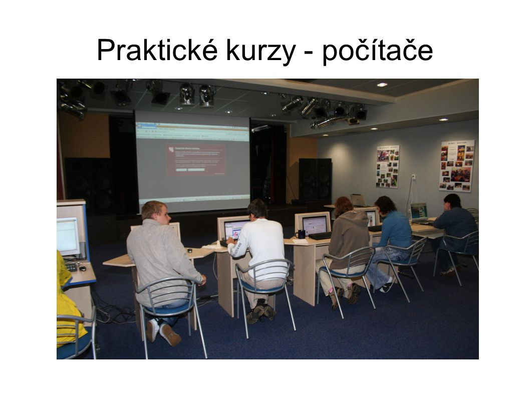 Praktické kurzy - počítače
