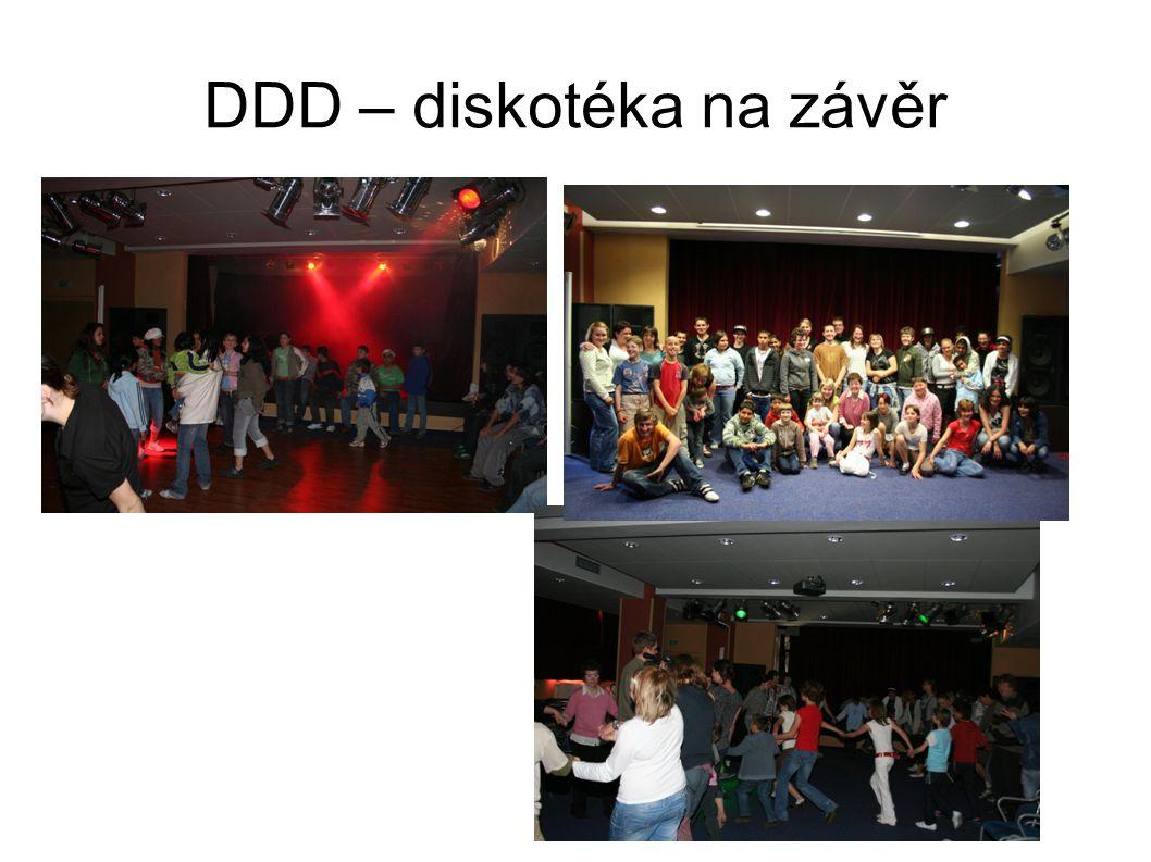 DDD – diskotéka na závěr