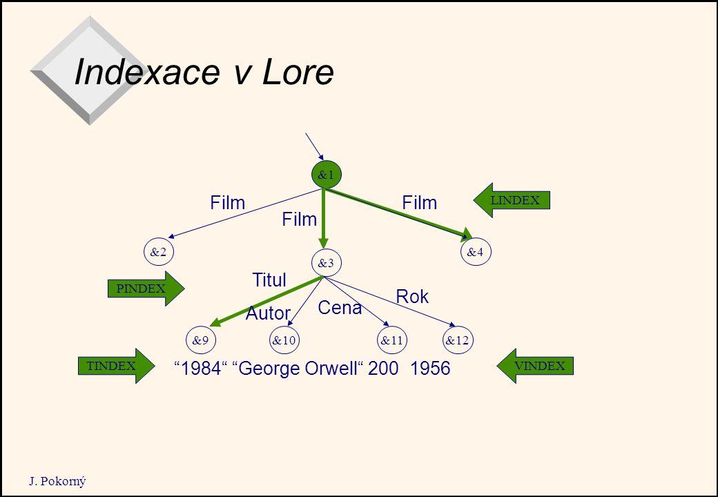 "J. Pokorný Indexace v Lore &1 &2 &11 &4 &10 &3 &12&9 LINDEX VINDEXTINDEX PINDEX Film Titul Autor Cena Rok ""1984"" ""George Orwell"" 200 1956"