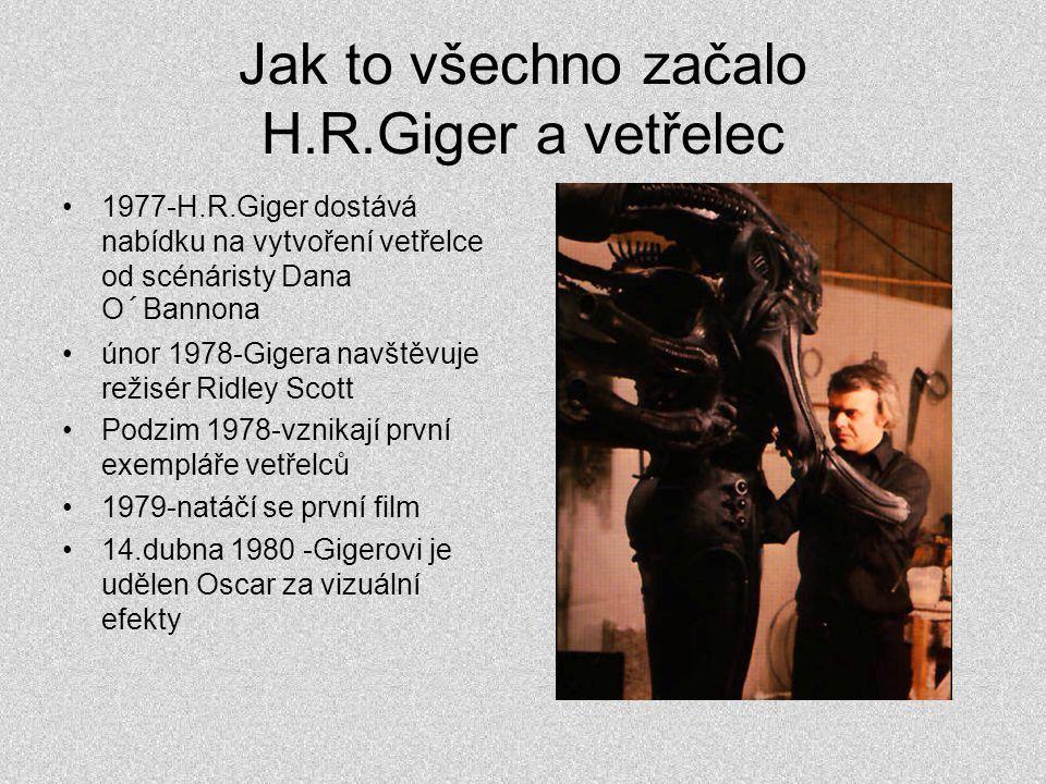 Jak to všechno začalo H.R.Giger a vetřelec •1977-H.R.Giger dostává nabídku na vytvoření vetřelce od scénáristy Dana O´Bannona •únor 1978-Gigera navště