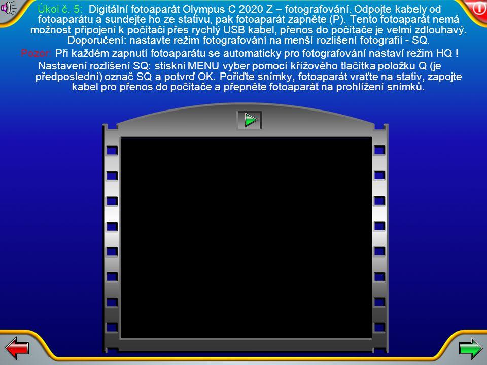 Úkol č. 4: Naskenovaný obrazek uložte do adresáře STUDENTI. Pro uložení více diapozitivů postup opakujte.