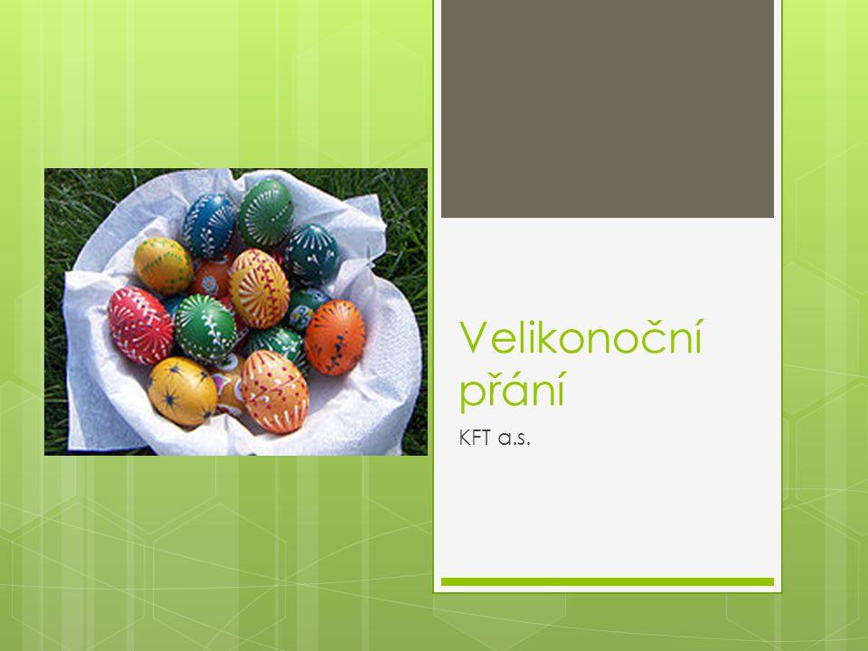Velikonoční přání KFT a.s.