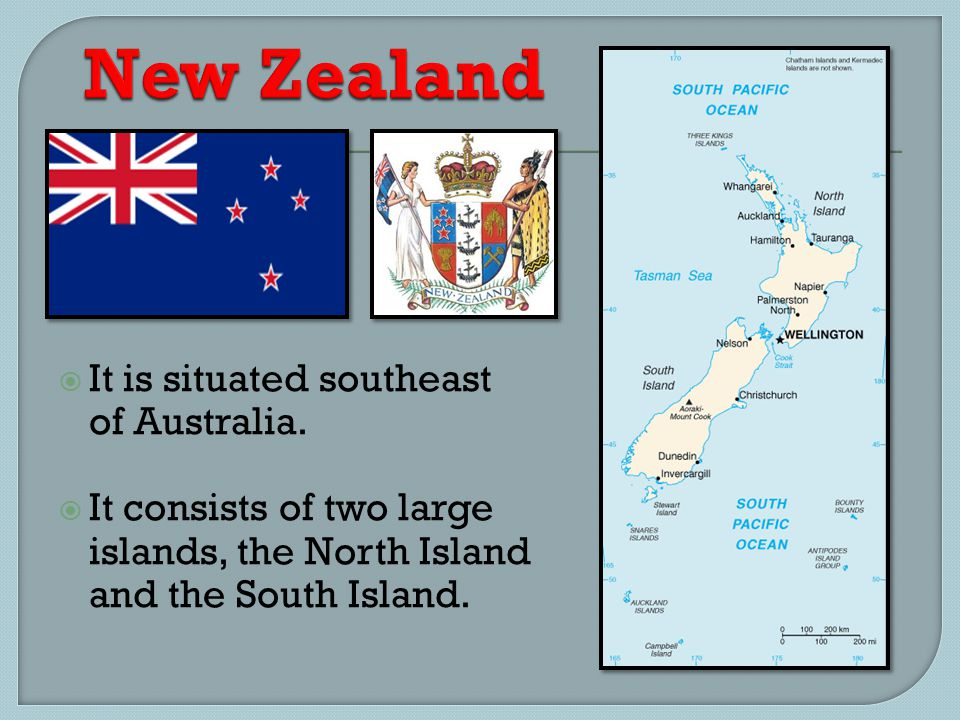  It is situated southeast of Australia.