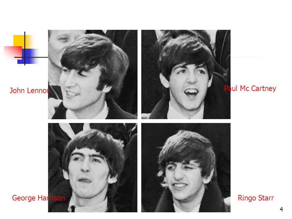 John LennonJohn Lennon (1960-70) - zpěv, rytmická kytara, sólová kytara, foukací harmonika, klávesy Paul McCartneyPaul McCartney (1960-70) - zpěv, basová kytara, kytara, klávesy (výjimečně bicí) George HarrisonGeorge Harrison (1960-70) - zpěv, sólová kytara, sitár, housle, Ringo StarrRingo Starr (1962-70) - zpěv, bicí, perkuseperkuse Pete BestPete Best (1960-62) - zpěv, bicí Stuart SutcliffeStuart Sutcliffe (1960-61) - zpěv, baskytara Manažer: Brian EpsteinBrian Epstein Producent: George MartinGeorge Martin 5