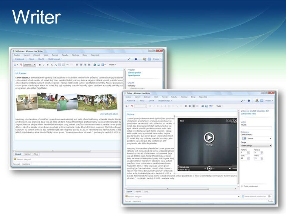 Movie Maker  Umožňuje vytvářejte filmy z vlastních obrázků a videoklipů a sdílet je s přáteli.