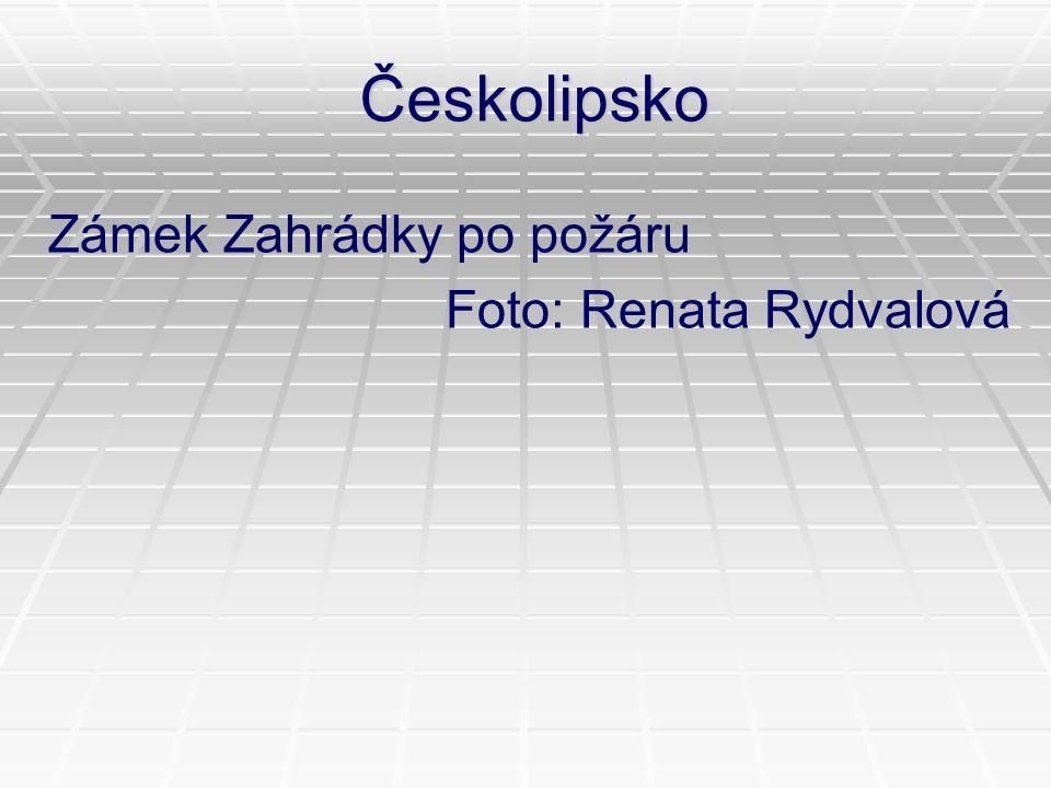 Českolipsko Zámek Zahrádky po požáru Foto: Renata Rydvalová
