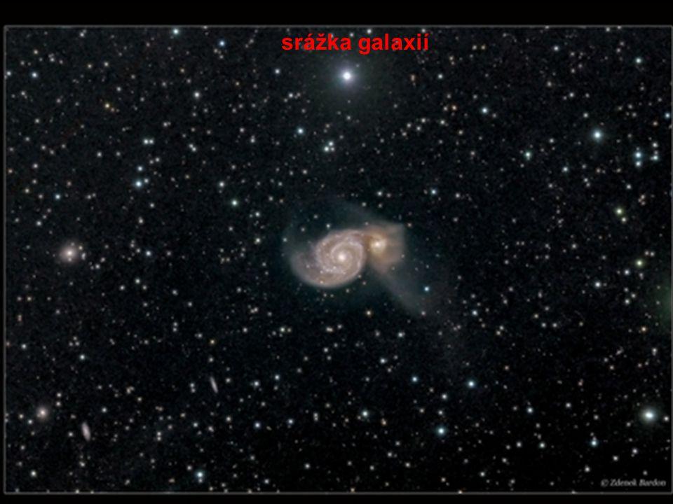 srážka galaxií