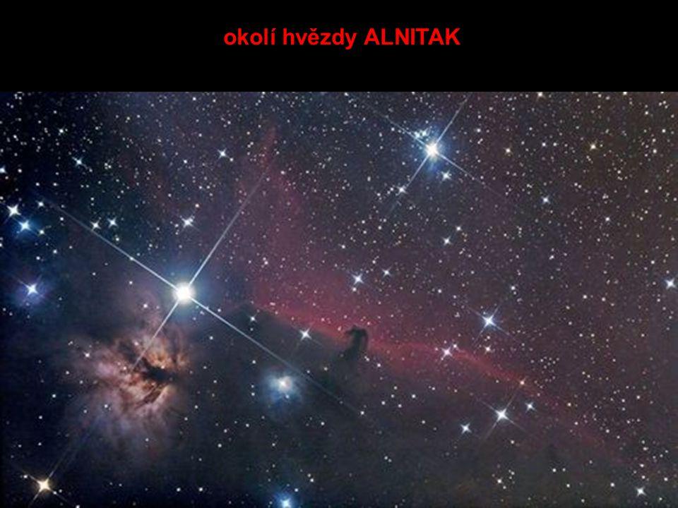 okolí hvězdy ALNITAK