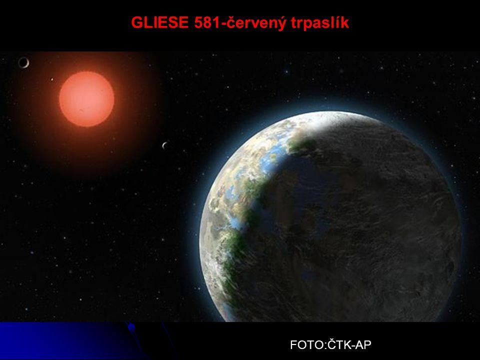 GLIESE 581-červený trpaslík FOTO:ČTK-AP