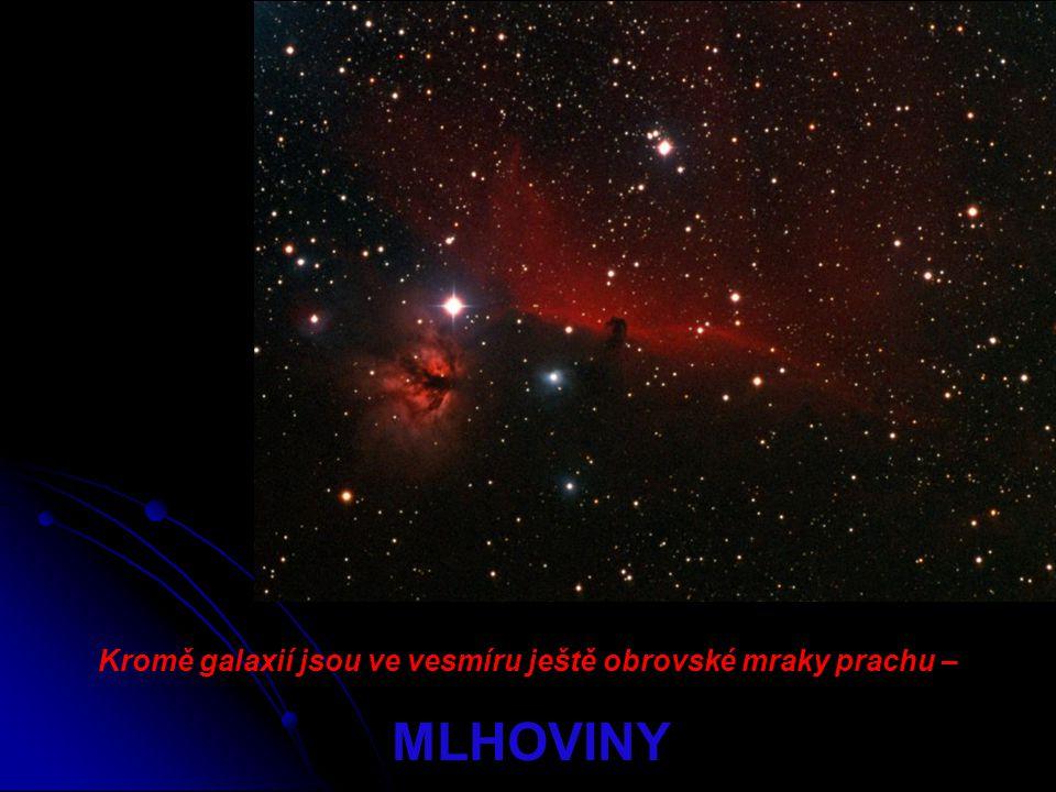 Kromě galaxií jsou ve vesmíru ještě obrovské mraky prachu – MLHOVINY