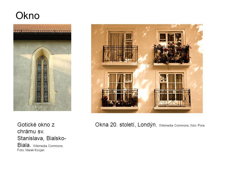 Okno Gotické okno z chrámu sv. Stanislava, Bialsko- Biala.