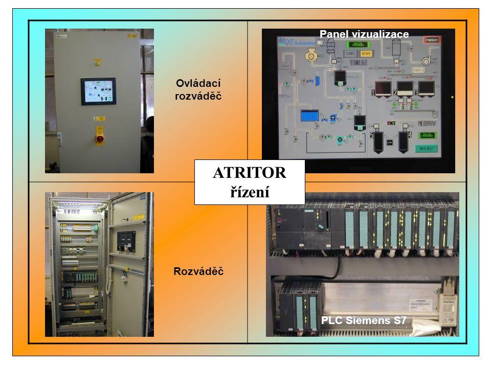Rozváděč PLC Siemens S7 Panel vizualizace Ovládací rozváděč ATRITOR řízení