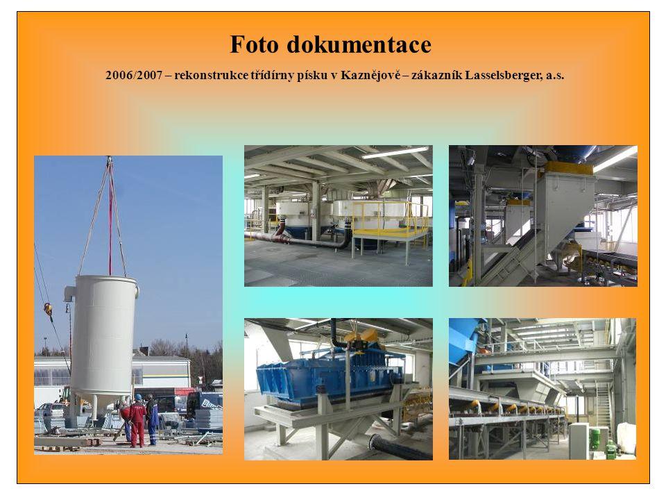 Foto dokumentace 2006 - 3.linka mletí kaolinu v Kaznějově – zákazník Lasselsberger, a.s.