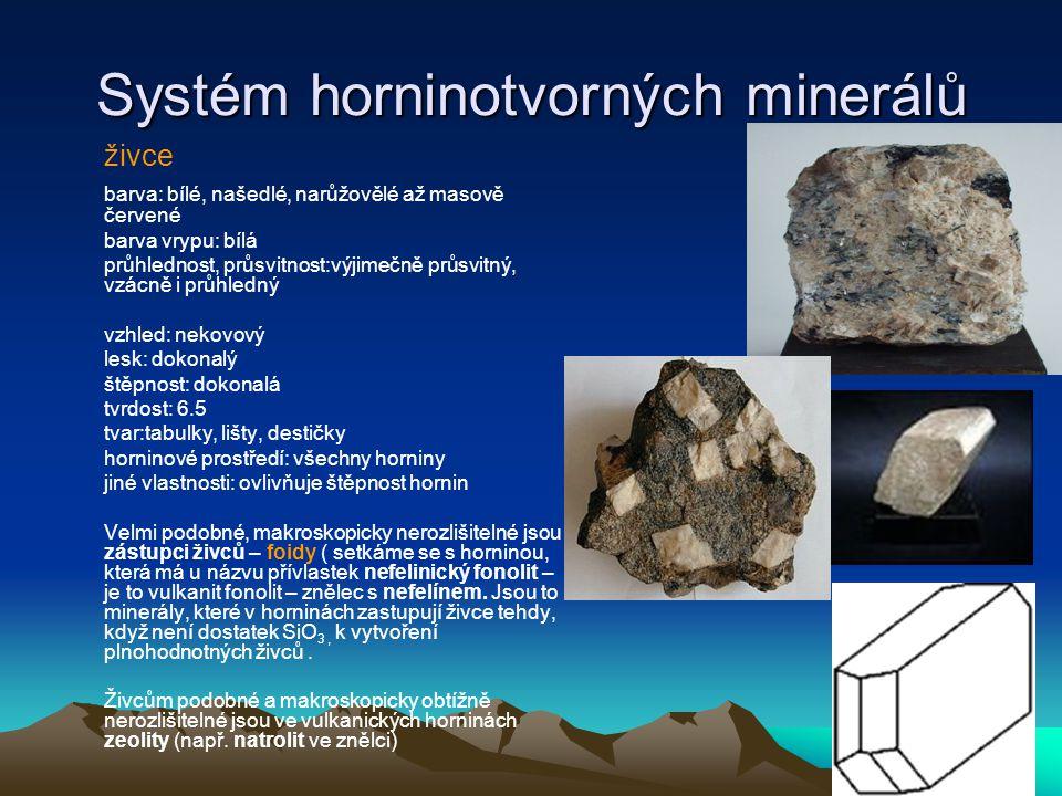 Systém horninotvorných minerálů Skupina turmalínu.
