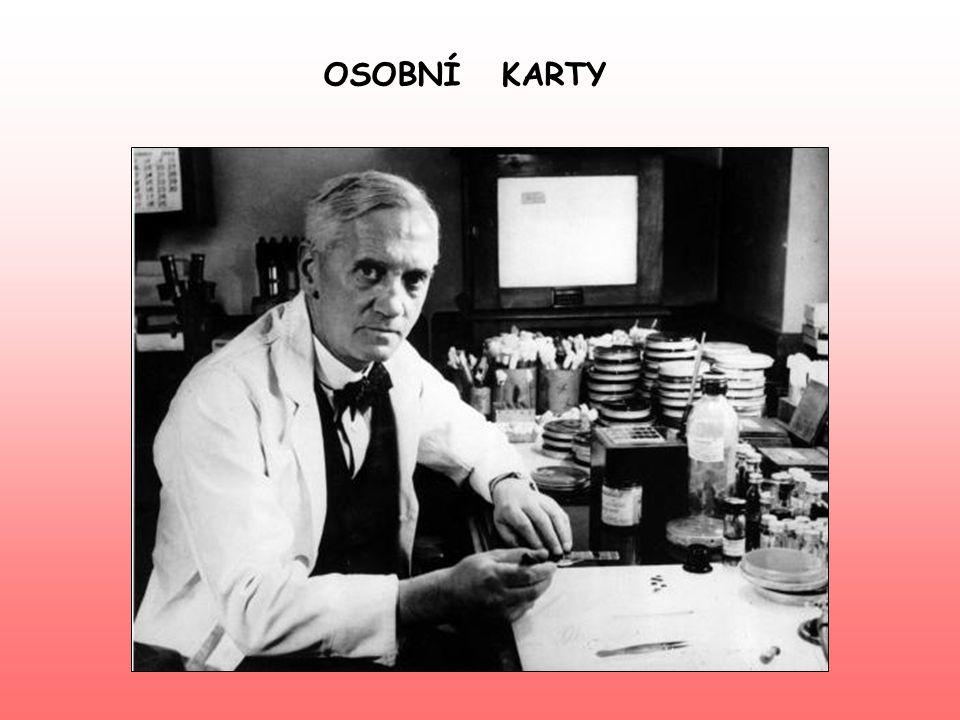 jméno Alexander Fleming foto národnostanglická povolánílékař výzkumočkovací látky v St.