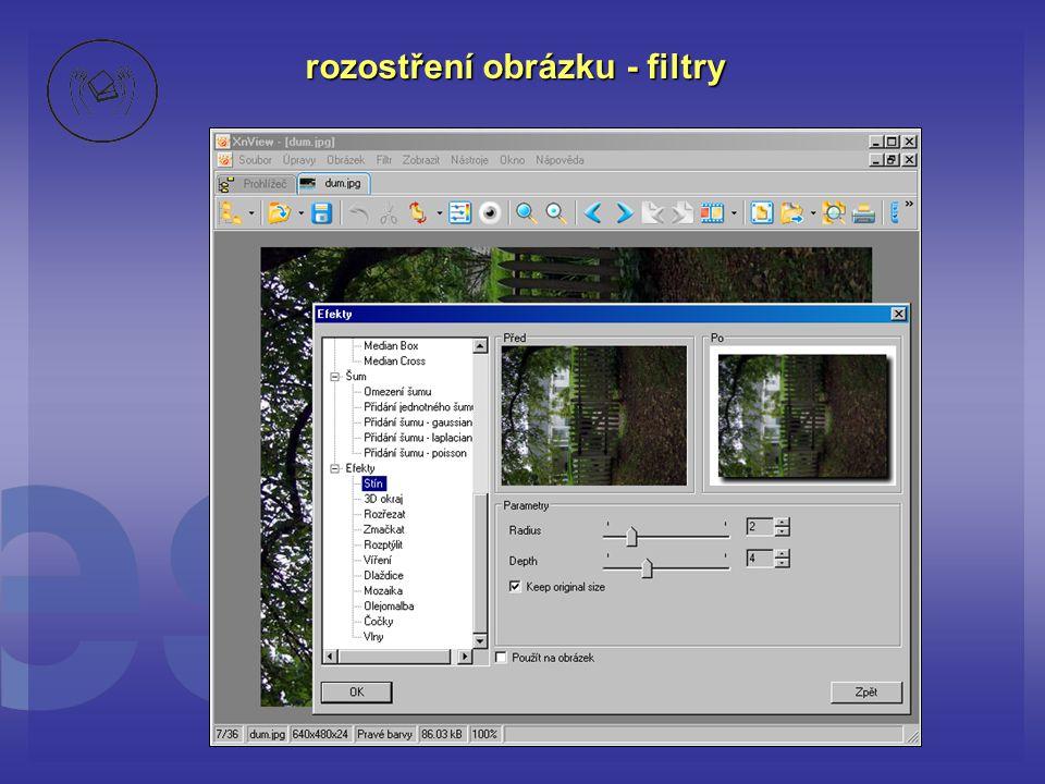 rozostření obrázku - filtry