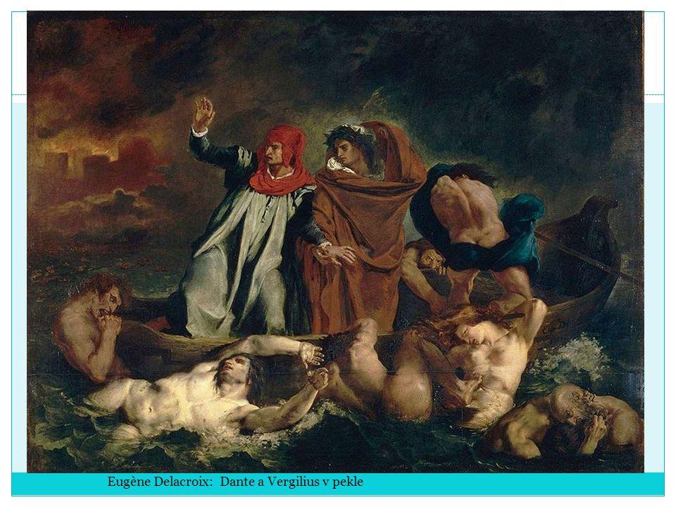 Eugène Delacroix: Dante a Vergilius v pekle