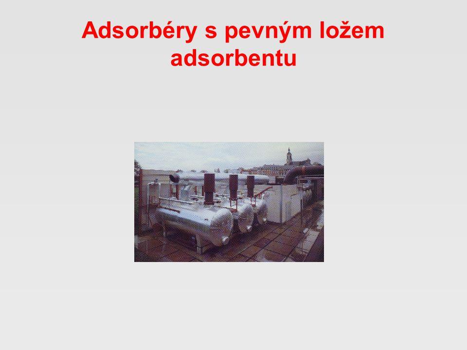 Adsorbéry s pevným ložem adsorbentu