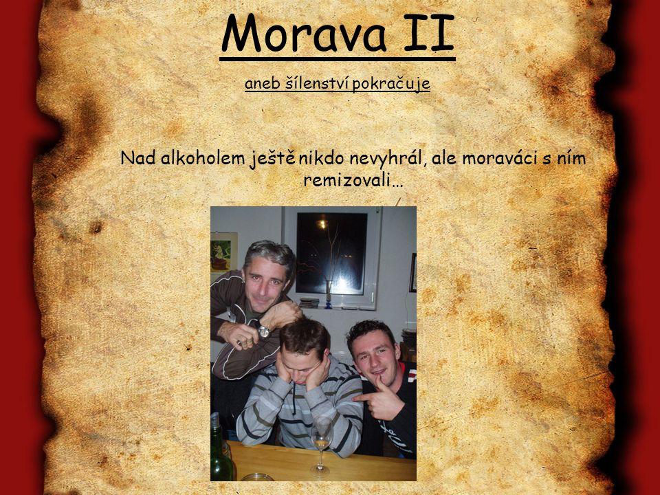 Morava II aneb šílenství pokračuje Závazné přihlášky zasílejte na: ondrejkolar@gmail.com nebo +420 728 898 722 Cena se bude pohybovat kolem 2000,- (v ceně je veškeré pití a jídlo, které do nás napadá ve sklepech + ubytování).