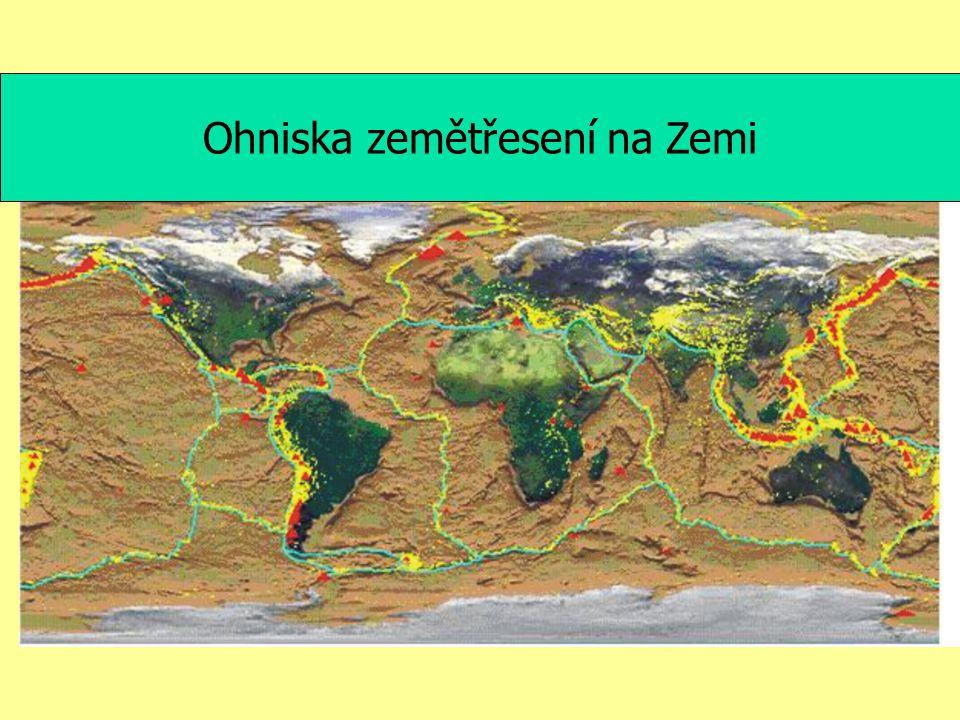 Ohniska zemětřesení na Zemi