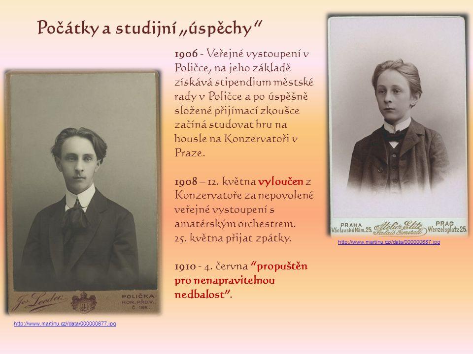 1922 Začíná studovat kompozici u Josefa Suka.