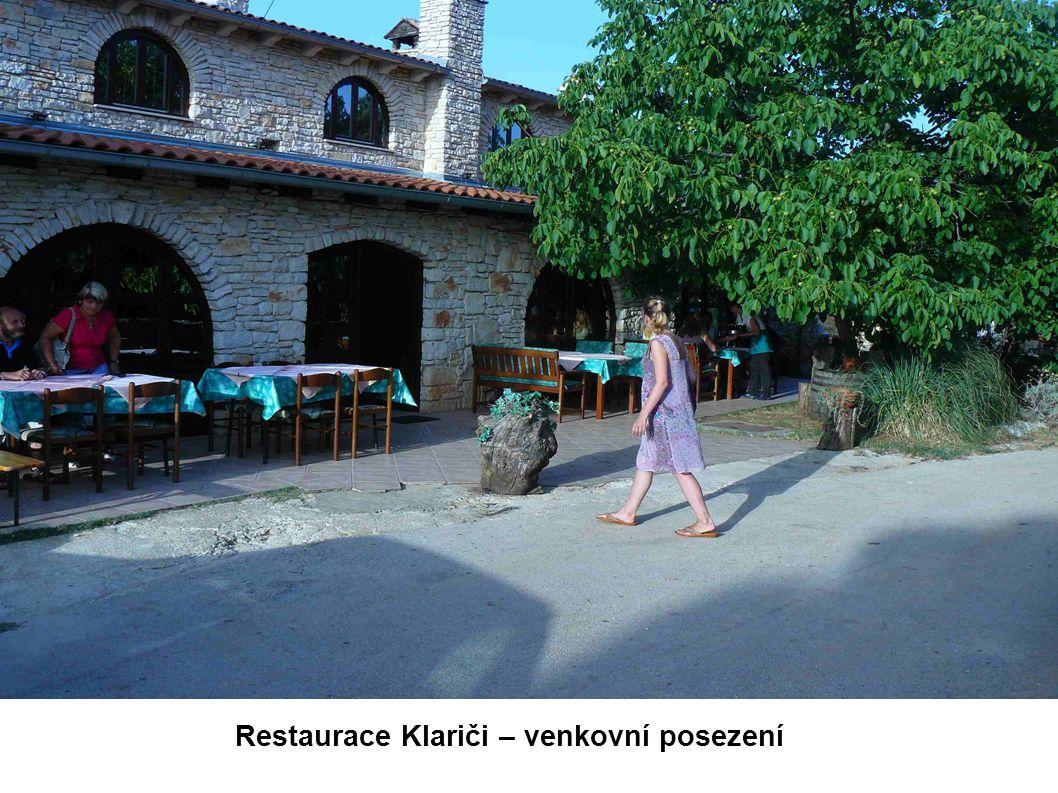 Restaurace Klariči – venkovní posezení
