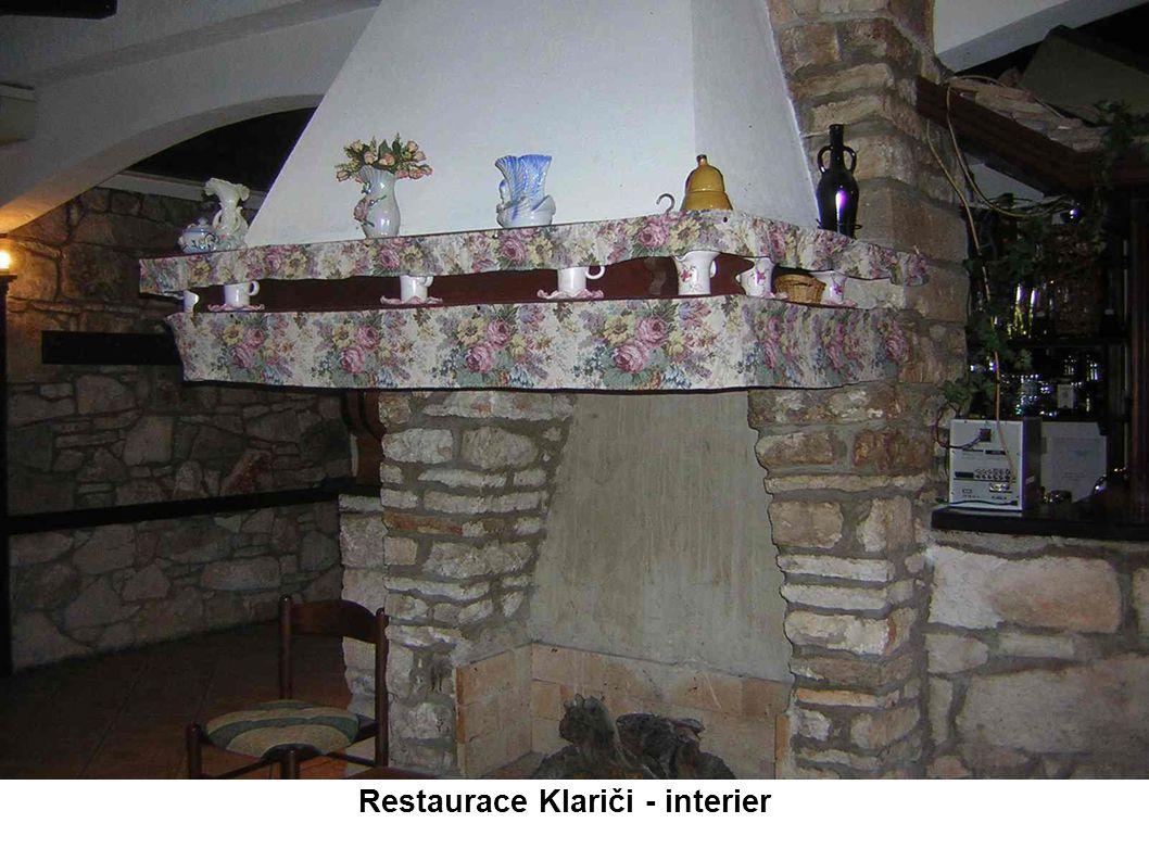 Restaurace Klariči - interier