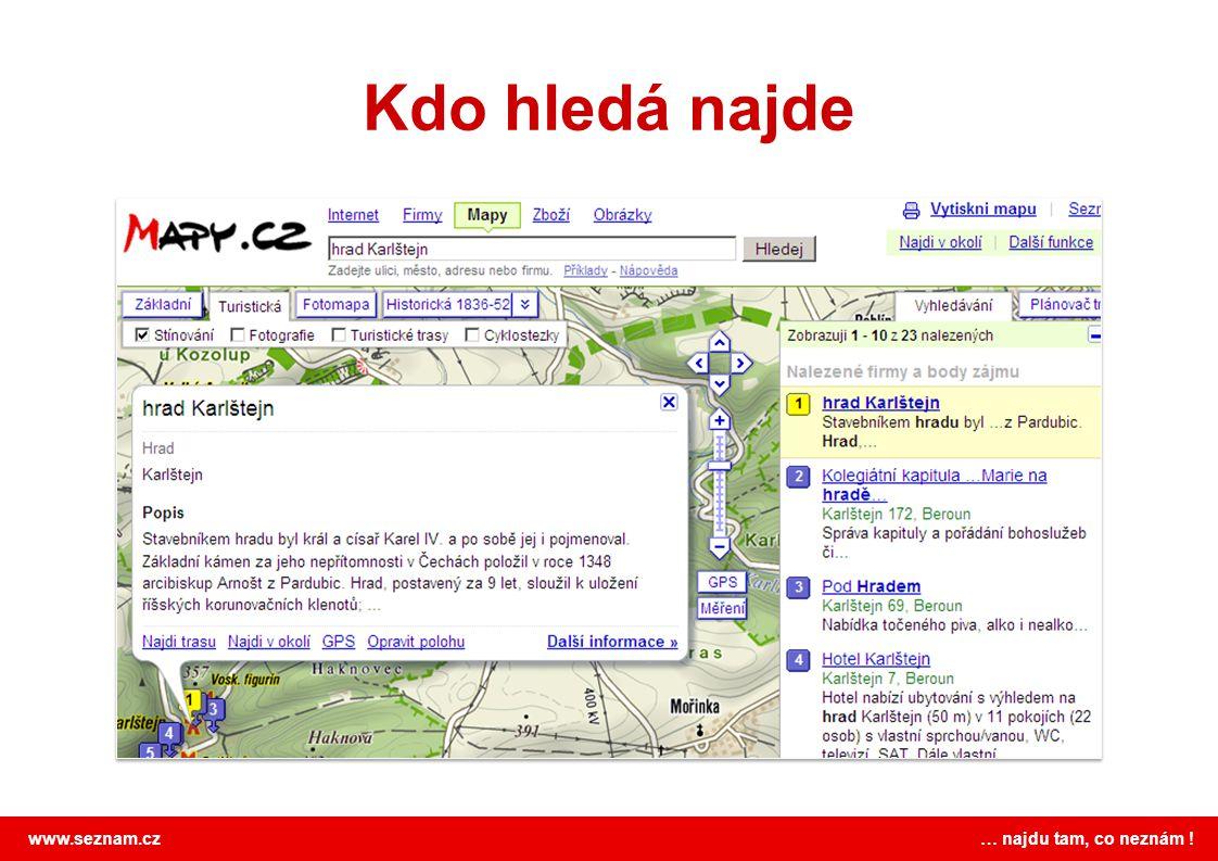 www.seznam.cz … najdu tam, co neznám ! Kdo hledá najde