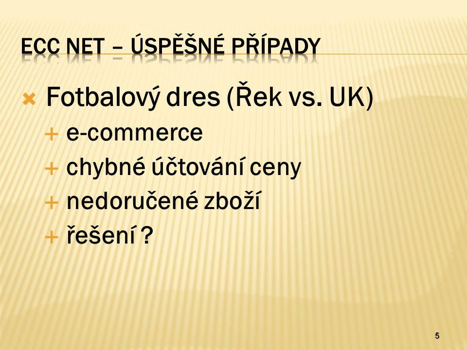 5  Fotbalový dres (Řek vs. UK)  e-commerce  chybné účtování ceny  nedoručené zboží  řešení ?