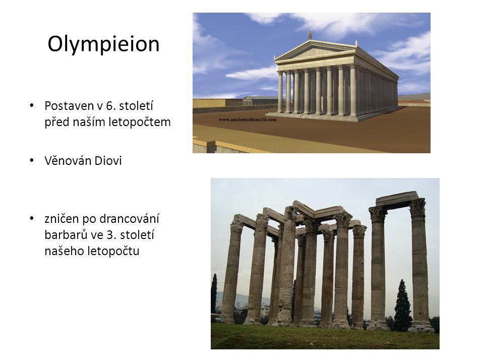 Tholos v Delfách • kruhová svatyně zasvěcena bohyni Athéně • Postavena v letech mezi 380 a 360 př.