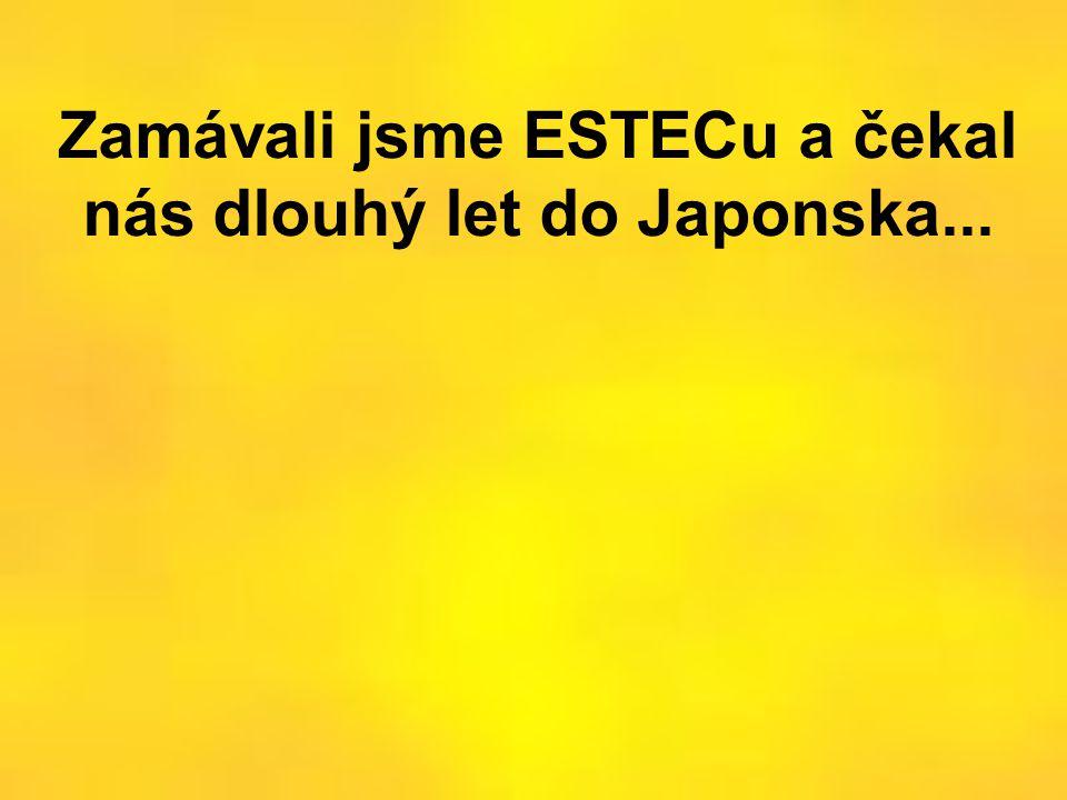 Zamávali jsme ESTECu a čekal nás dlouhý let do Japonska...