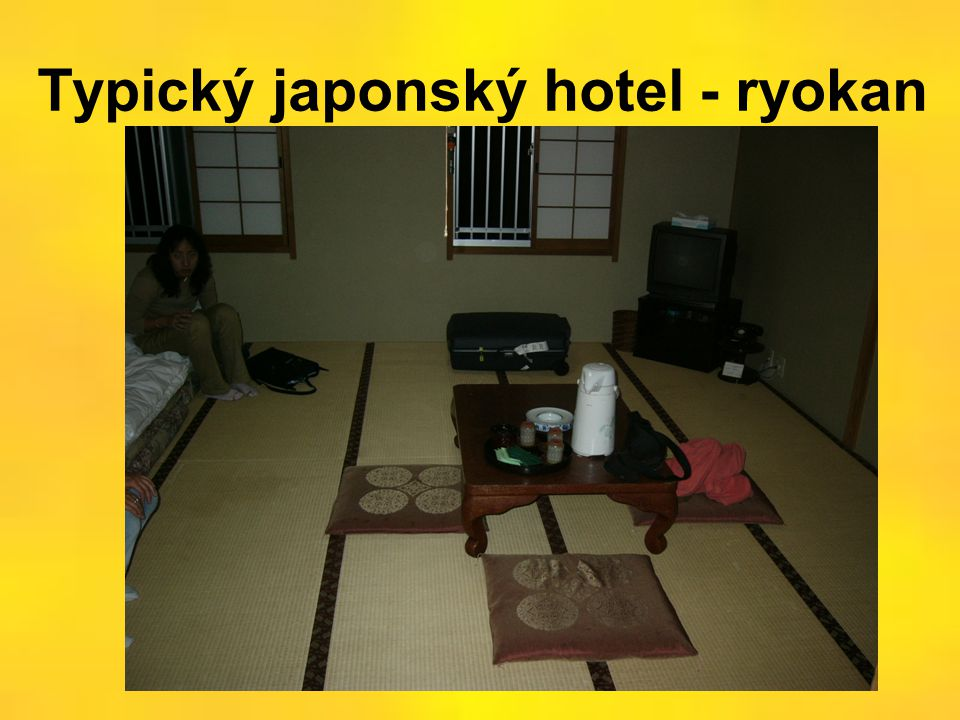 Typický japonský hotel - ryokan