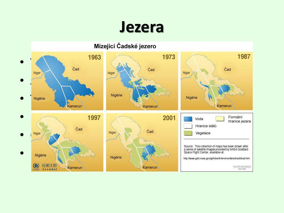 Jezera • Viktoriino jezero – největší (3. na světě) • Albertovo jezero • Tanganika – nejhlubší(1470 m), 2. na světě • Malawi • Čadské – bezodtoké, vys