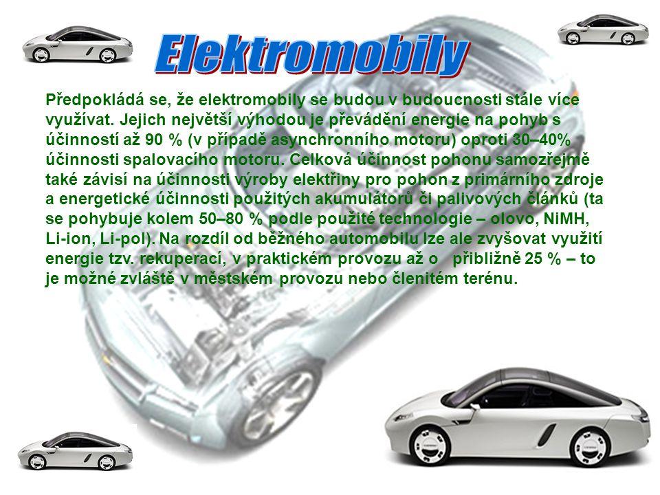 """Elektromobily neprodukují svým provozem výfukové plyny a i se započítáním výroby elektrické energie ze """"špinavějších zdrojů (např."""