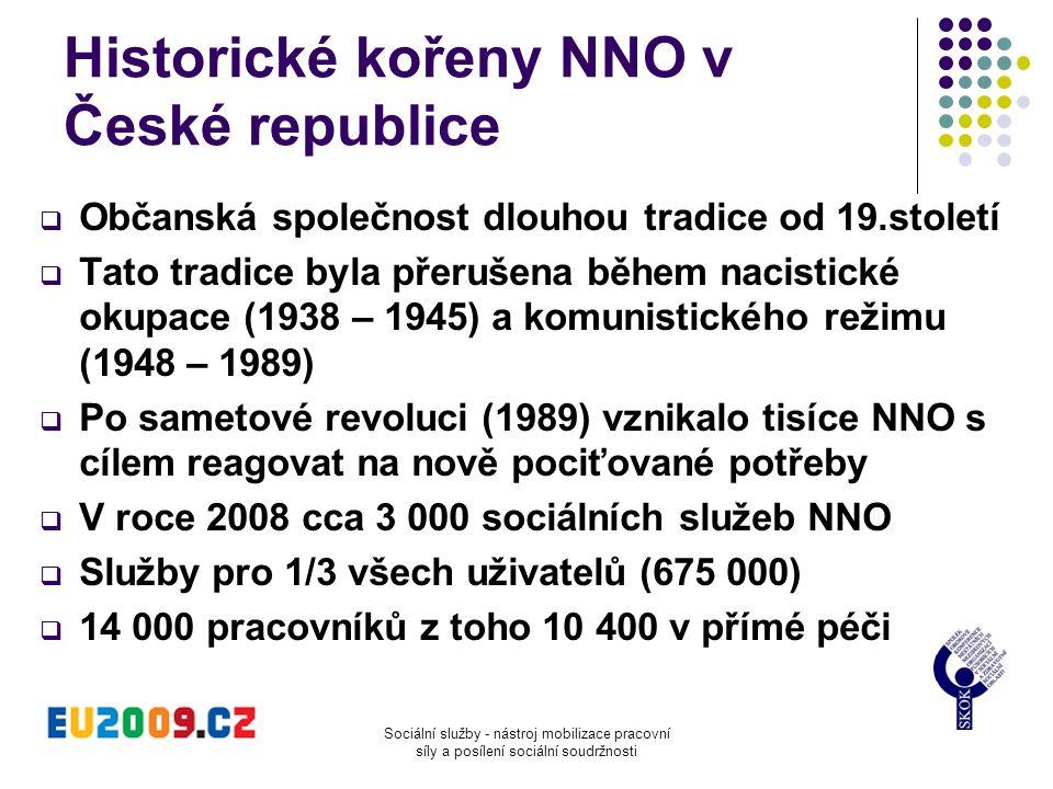 Historické kořeny NNO v České republice  Občanská společnost dlouhou tradice od 19.století  Tato tradice byla přerušena během nacistické okupace (19