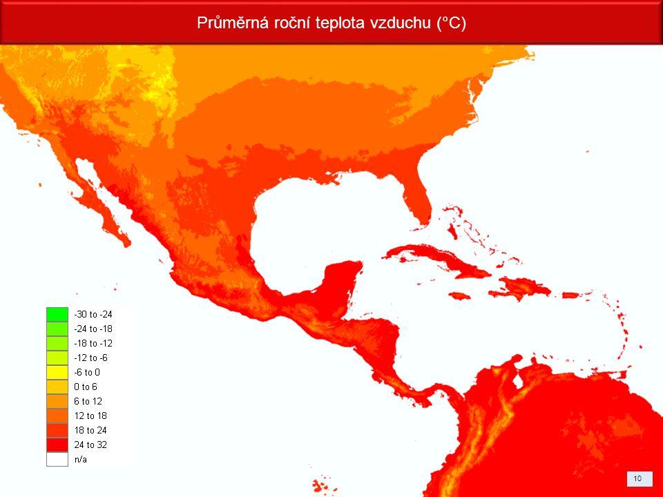 10 Průměrná roční teplota vzduchu (°C)