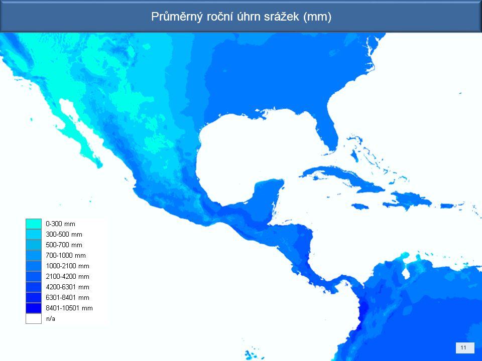 Průměrný roční úhrn srážek (mm) 11