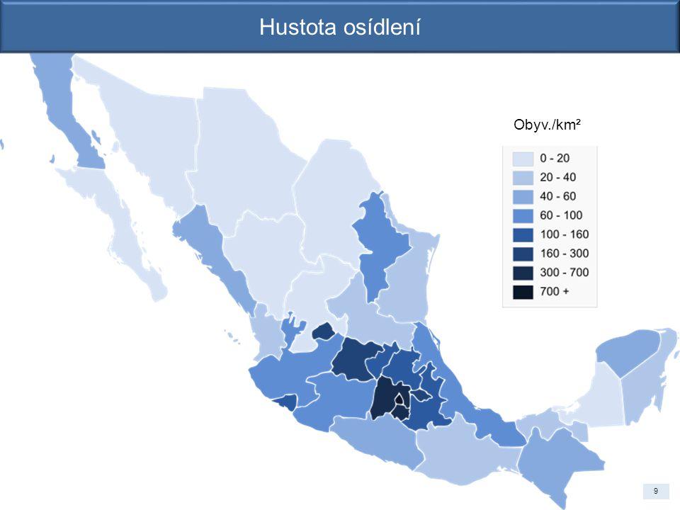 Obyv./km² Hustota osídlení 9