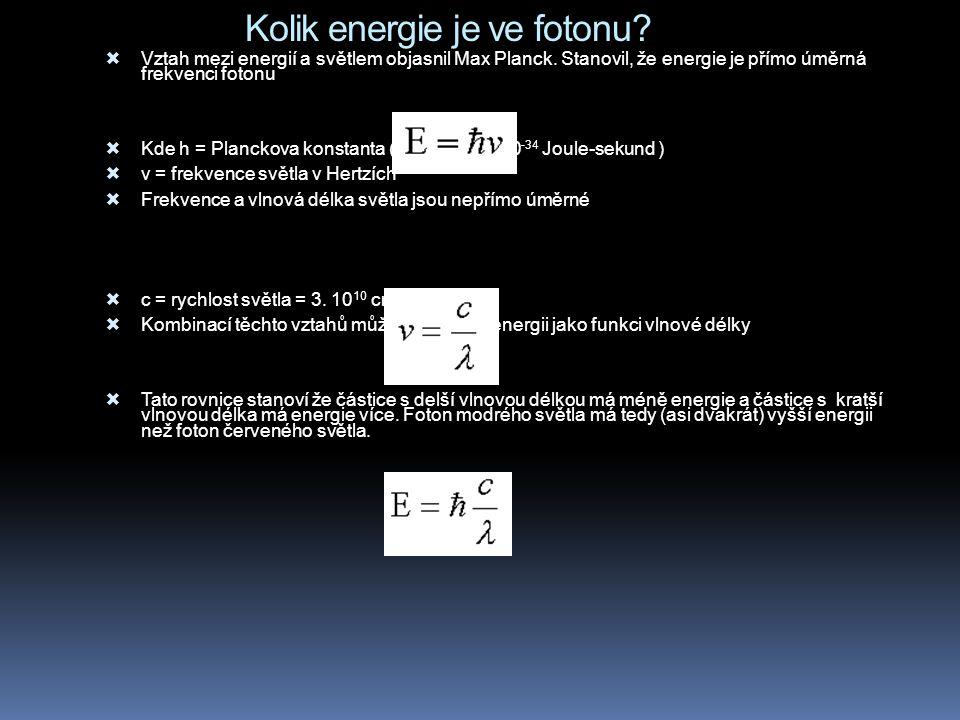 Kolik energie je ve fotonu. Vztah mezi energií a světlem objasnil Max Planck.
