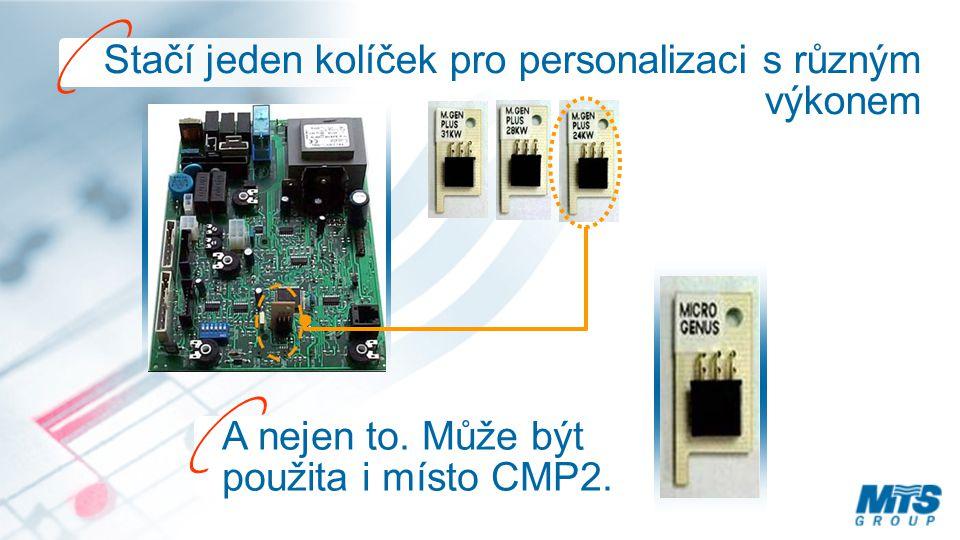 Stačí jeden kolíček pro personalizaci s různým výkonem A nejen to. Může být použita i místo CMP2.