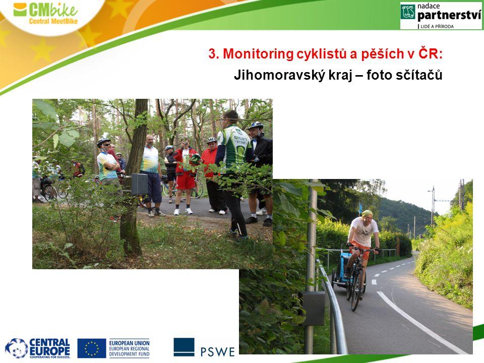 3. Monitoring cyklistů a pěších v ČR: Jihomoravský kraj – foto sčítačů