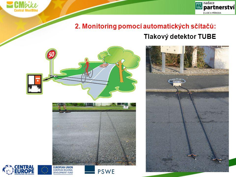 2. Monitoring pomocí automatických sčítačů: Tlakový detektor TUBE