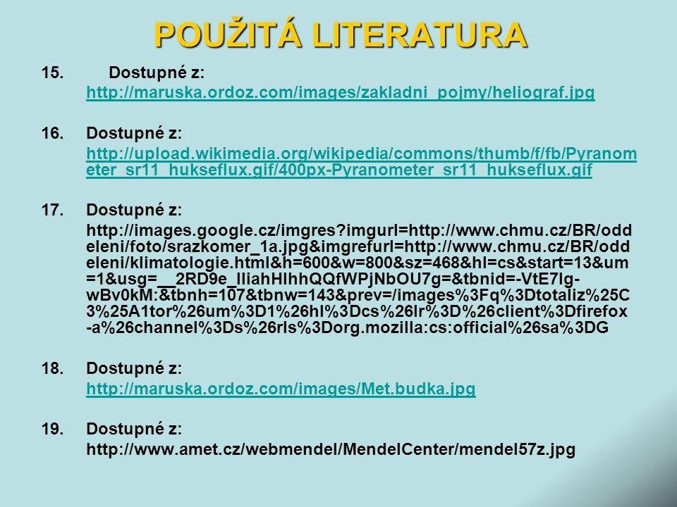 POUŽITÁ LITERATURA 15.Dostupné z: http://maruska.ordoz.com/images/zakladni_pojmy/heliograf.jpg 16.Dostupné z: http://upload.wikimedia.org/wikipedia/co