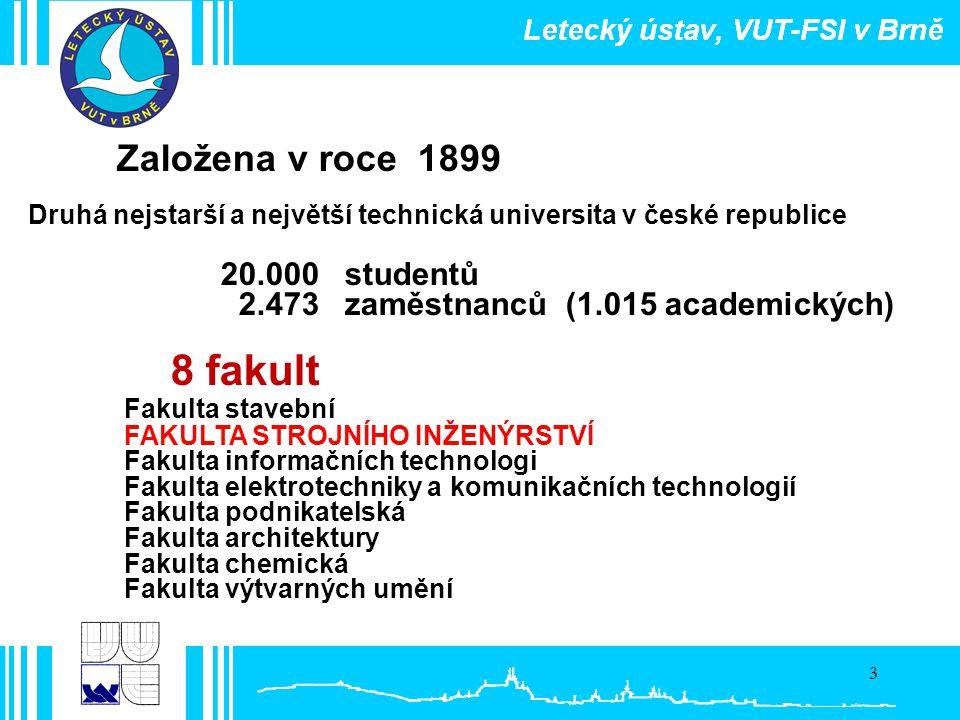 3 Založena v roce 1899 Druhá nejstarší a největší technická universita v české republice 20.000 studentů 2.473 zaměstnanců (1.015 academických) 8 faku